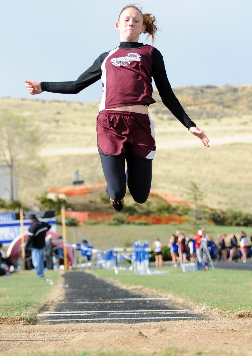Soroco's Micaela Meyer picked up long jump for the first time just this spring and already ranks among Class 2A's top competitors.