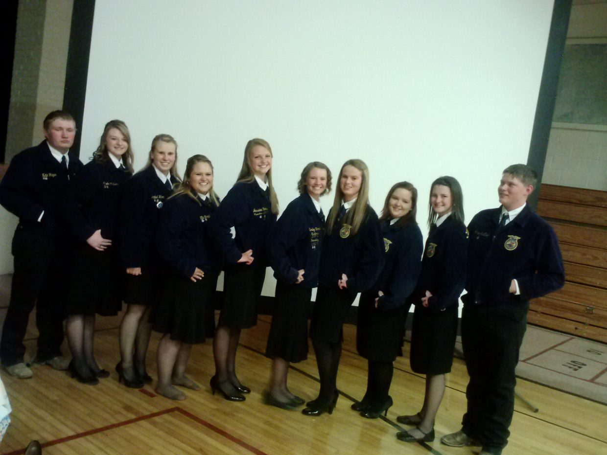 On Thursday evening, the Soroco FFA chapter held its annual chapter banquet. Not only did more than 100 people show up to this event, but many members received awards for multiple achievements. Submitted by: Nicole Williams