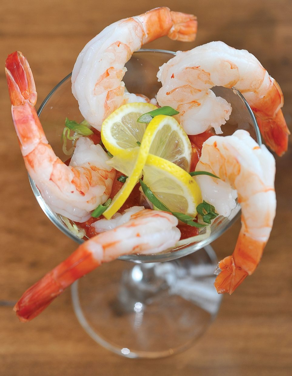 Shrimp cocktail is one of the limited menu items Haymaker Patio Grill is offering at lunch. The restaurant, which is operated by Steamboat Ski and Resort Corp., eventually will offer breakfast and dinner.