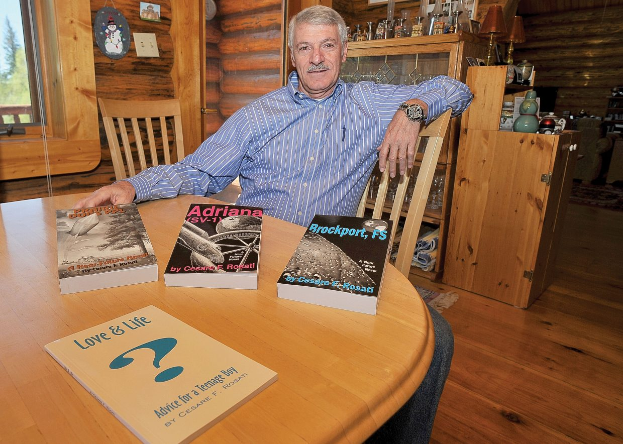 """Cesare Rosati, a 16-year Steamboat resident, is in the midst of publishing and releasing his five-part science fiction book series. Last week, the third installment, """"Brockport, FS,"""" was released and can be found at Off the Beaten Path Bookstore, at AccedePress.com and at Bud Werner Memorial Library."""