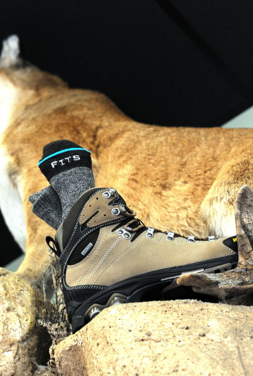 The Asolo Bullet GTX boots and Fits socks can make for a comfortable day hiking. They are available at Straightline Sports in downtown Steamboat Springs.