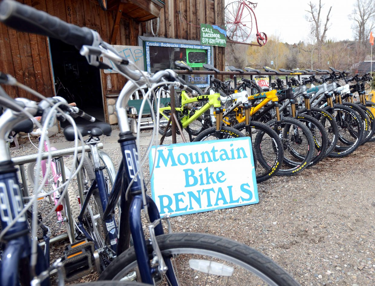 The number of rental bikes available in Steamboat Springs has more than doubled in the past five years, and local bike shops reported that busy weekends in town last summer still demanded every bike in their fleets.