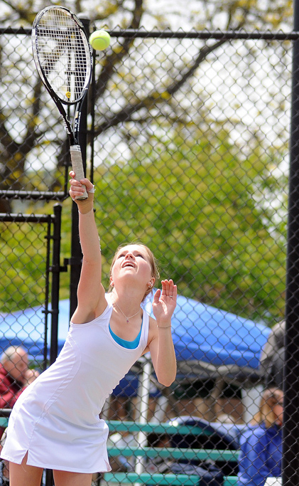 Steamboat Springs High School's Alli Lowrie plays at the state tennis tournament.