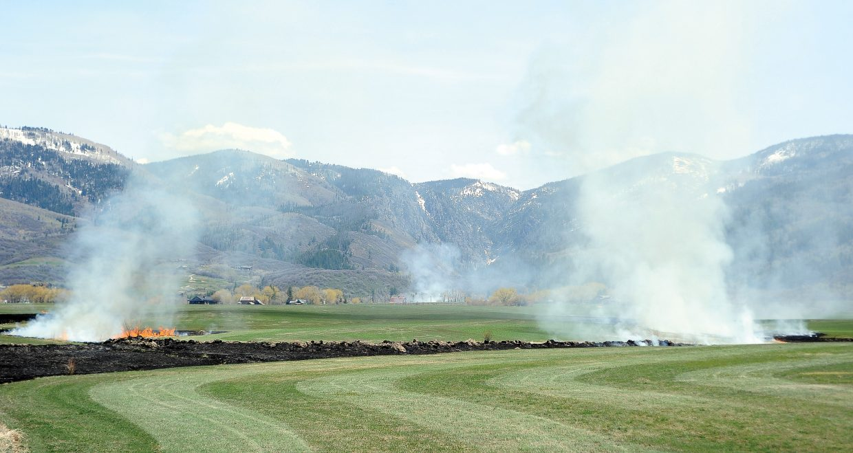 Smoke from a controlled burn southeast of Steambaot Springs could be seen for miles Monday afternoon.