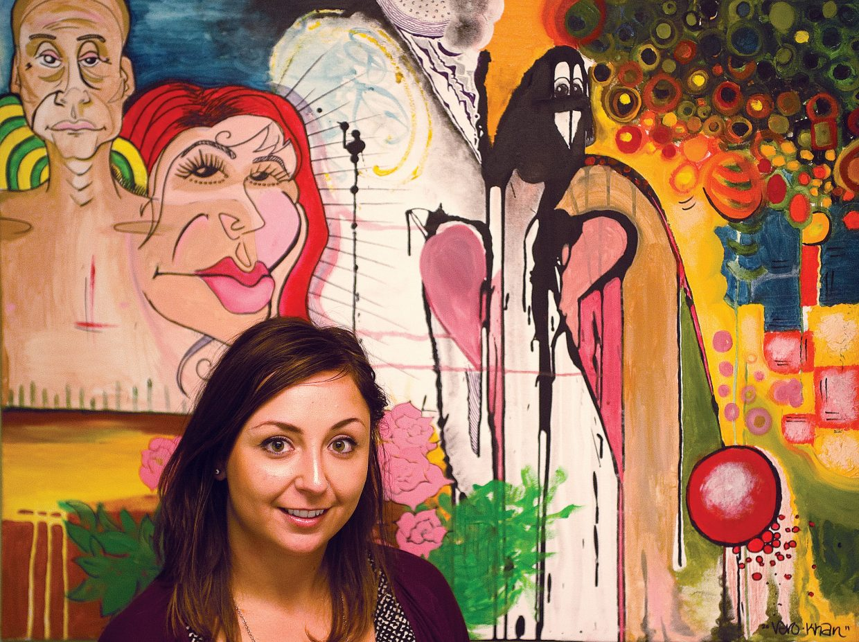 Local artist Vero Khan will have her work featured in an art show Saturday at Kneading Hands.