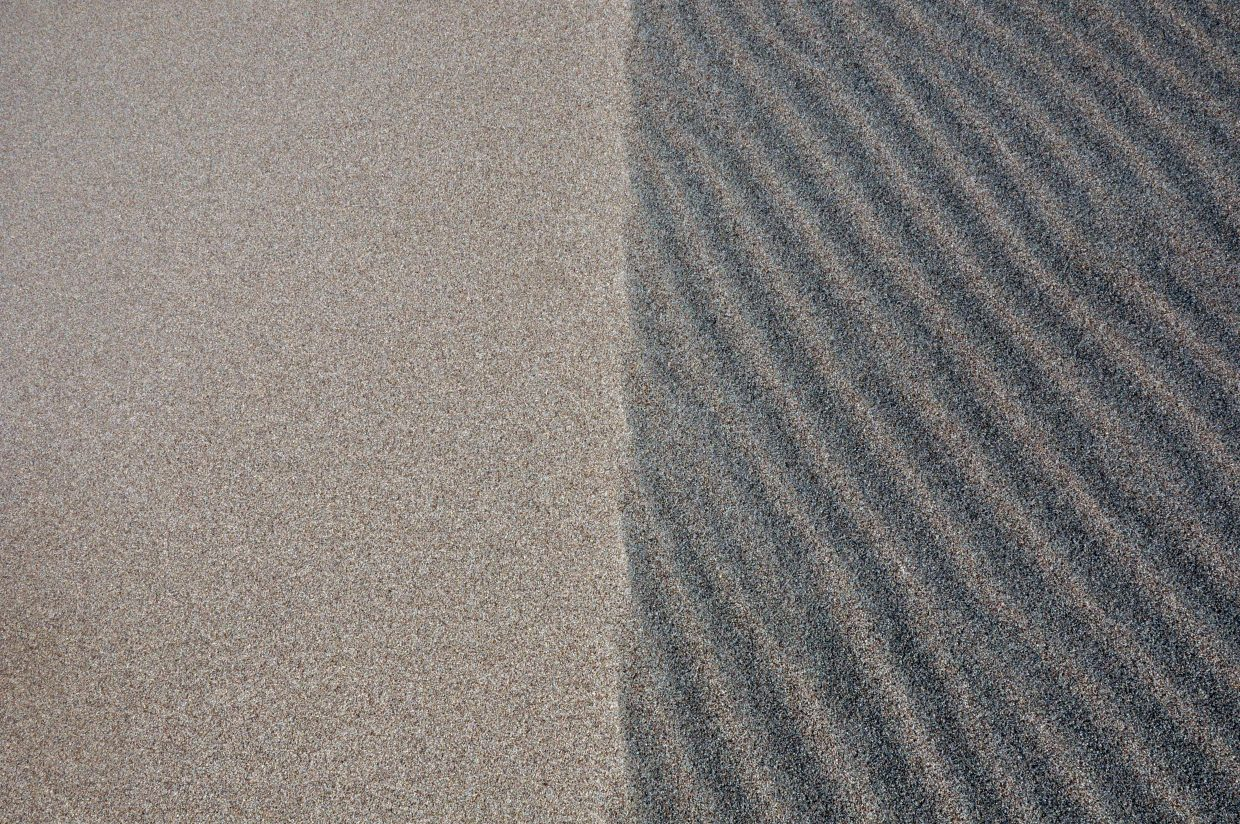 There are many patterns to be found in the sprawling field of sand dunes.