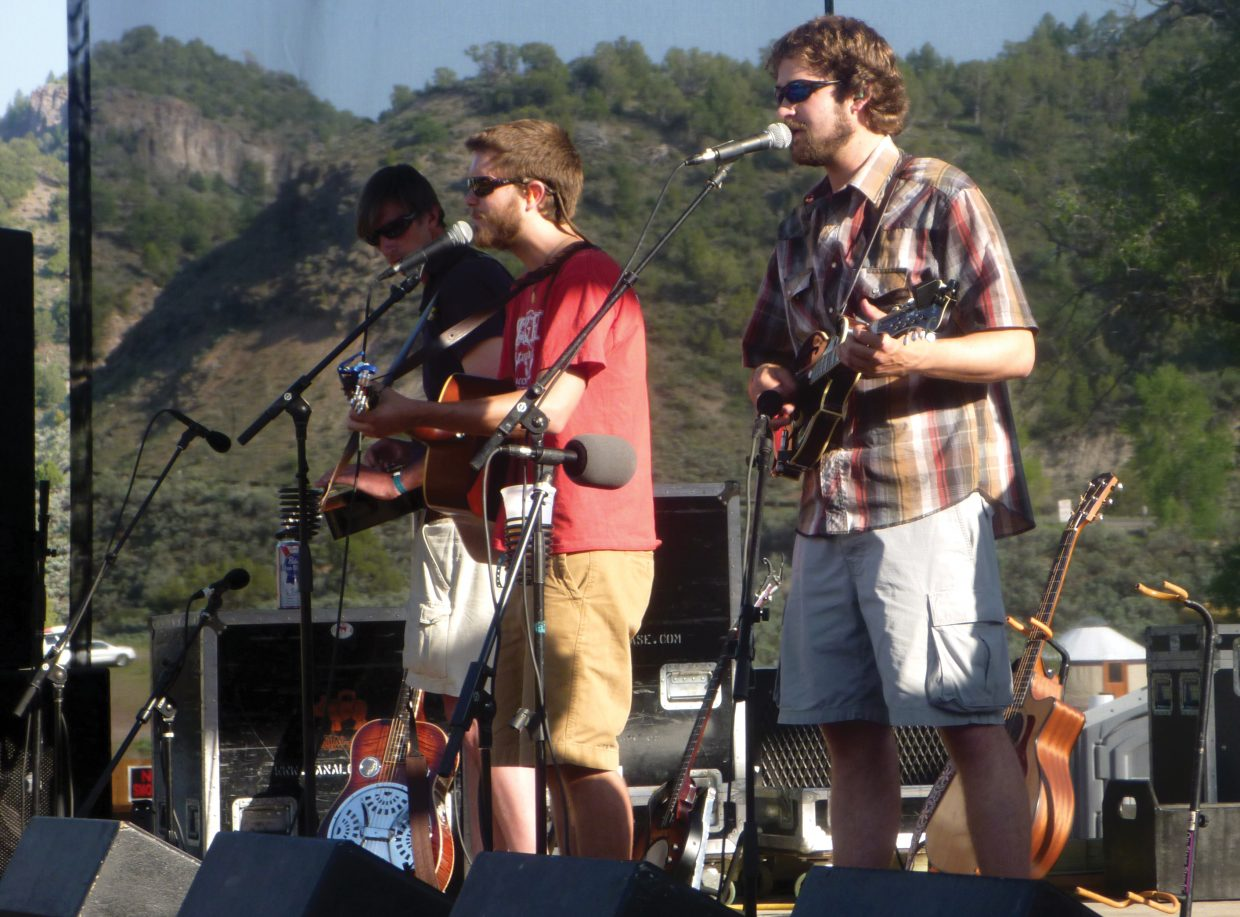 Missed the Boat members, from left, Jon Huge, Ryan Cox and Andrew Henry, performed with their band in May 2011 at State Bridge. The historic music venue in Bond was rebuilt last year and opens again this weekend. Missed the Boat will play there again May 25 for Campout for the Cause.