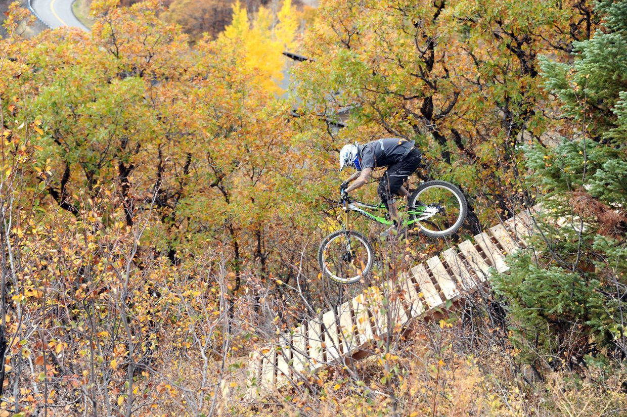Steamboat Ski Area capped the first season at its new downhill bike park last fall with a downhill race. The ski area is hoping to open more trails this summer and expand the park in coming years.
