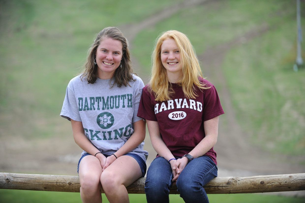 Steamboat Springs High School seniors Emily Hannah and Mary O'Connell have chosen to focus on their postsecondary educations instead of skiing. Hannah will be attending Harvard in the fall while O'Connell will attend Dartmouth.
