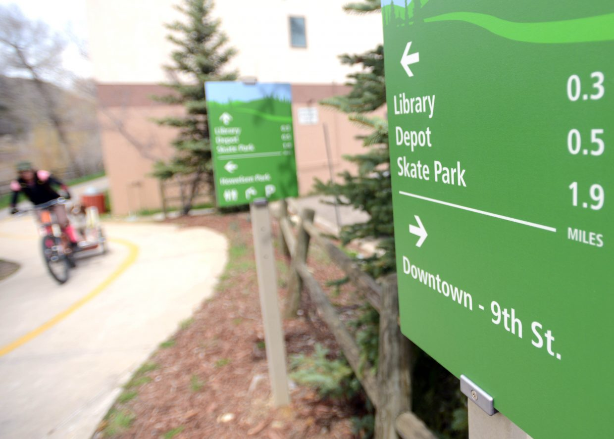 Trail segments on the Yampa Rive Core Trail are available in the city's adopt-a-trail program.