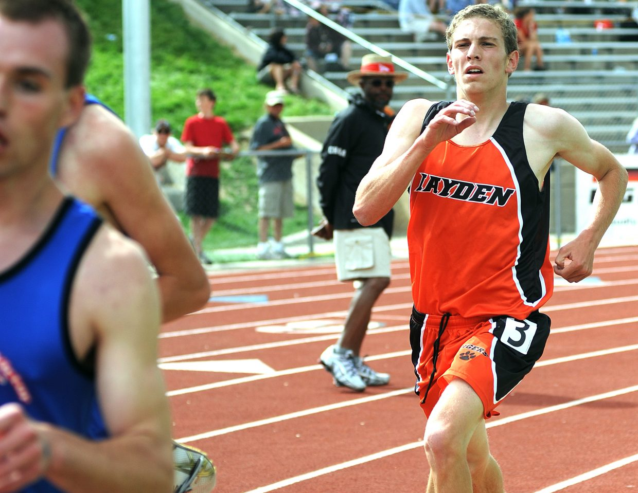 Hayden junior Chris Zirkel said he was disappointed that he wasn't able to move past eventual 3,200-meter champion Shawn Dubbs, from Cripple Creek, and runner-up Ty Williams, from Norwood, but he hung with the pair for most of Friday's race and finished third at the state track meet in Lakewood.