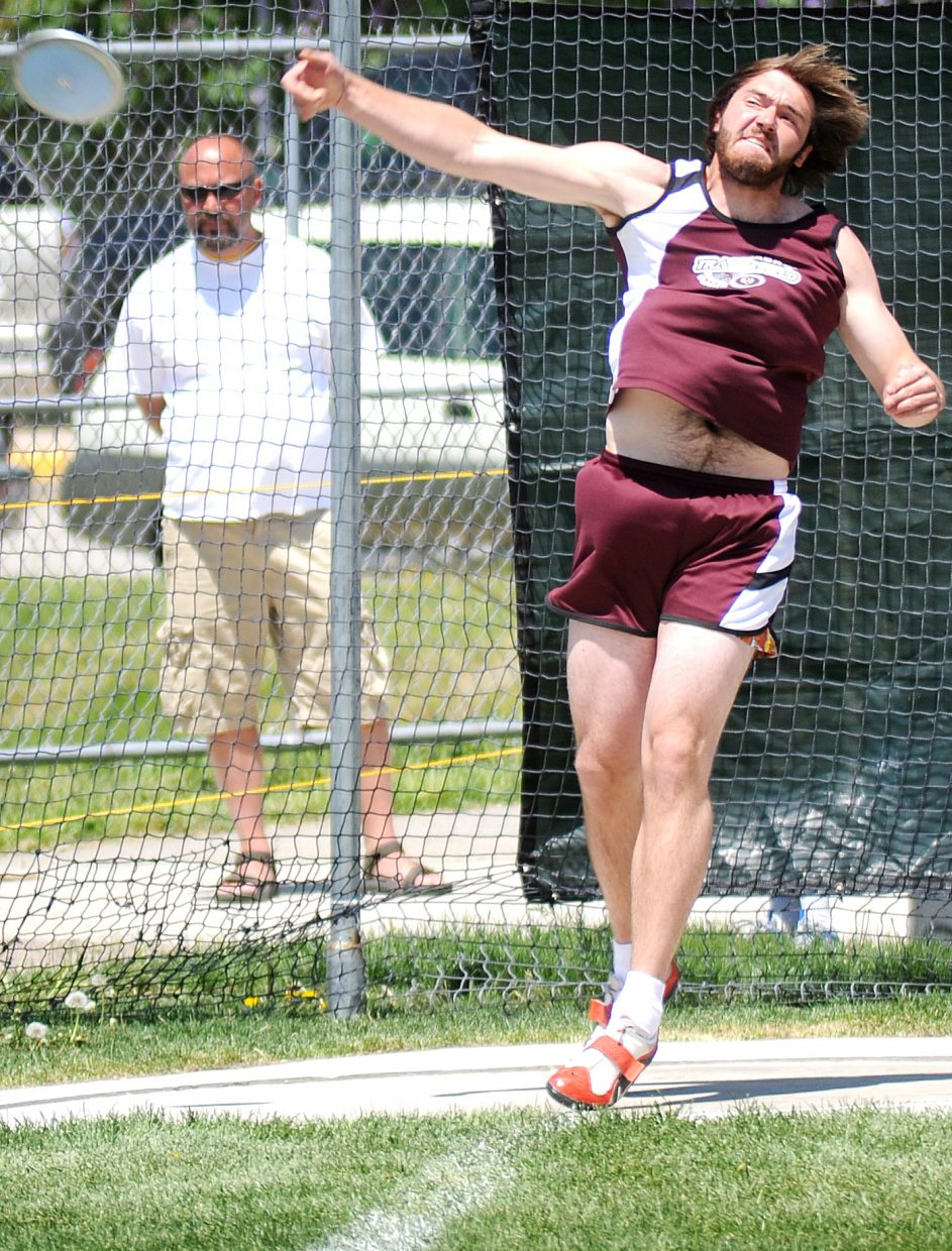 Matt Watwood placed fourth in the discus on Friday at the state track meet in Lakewood.