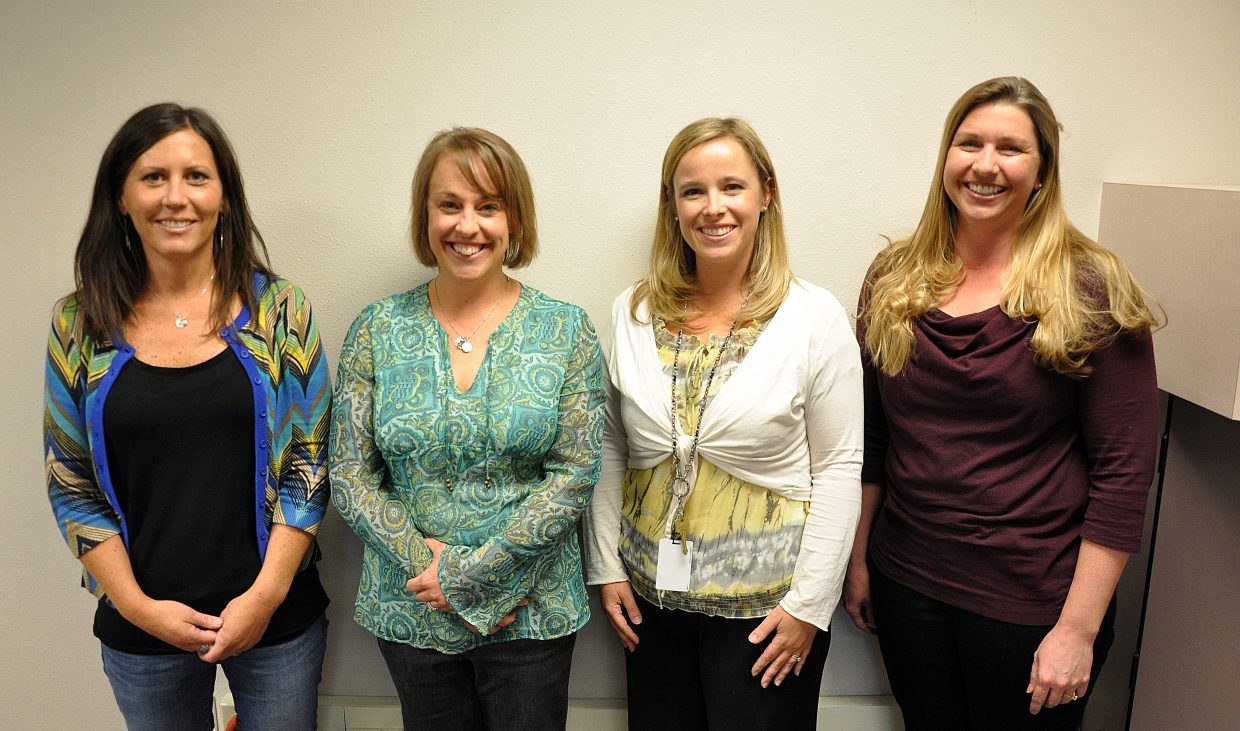 Steamboat Springs School District's top educators this year are, from left, Colleen Ryan, Shelby DeWolfe, Allyson Kopatz and Kim Waldschmidt.