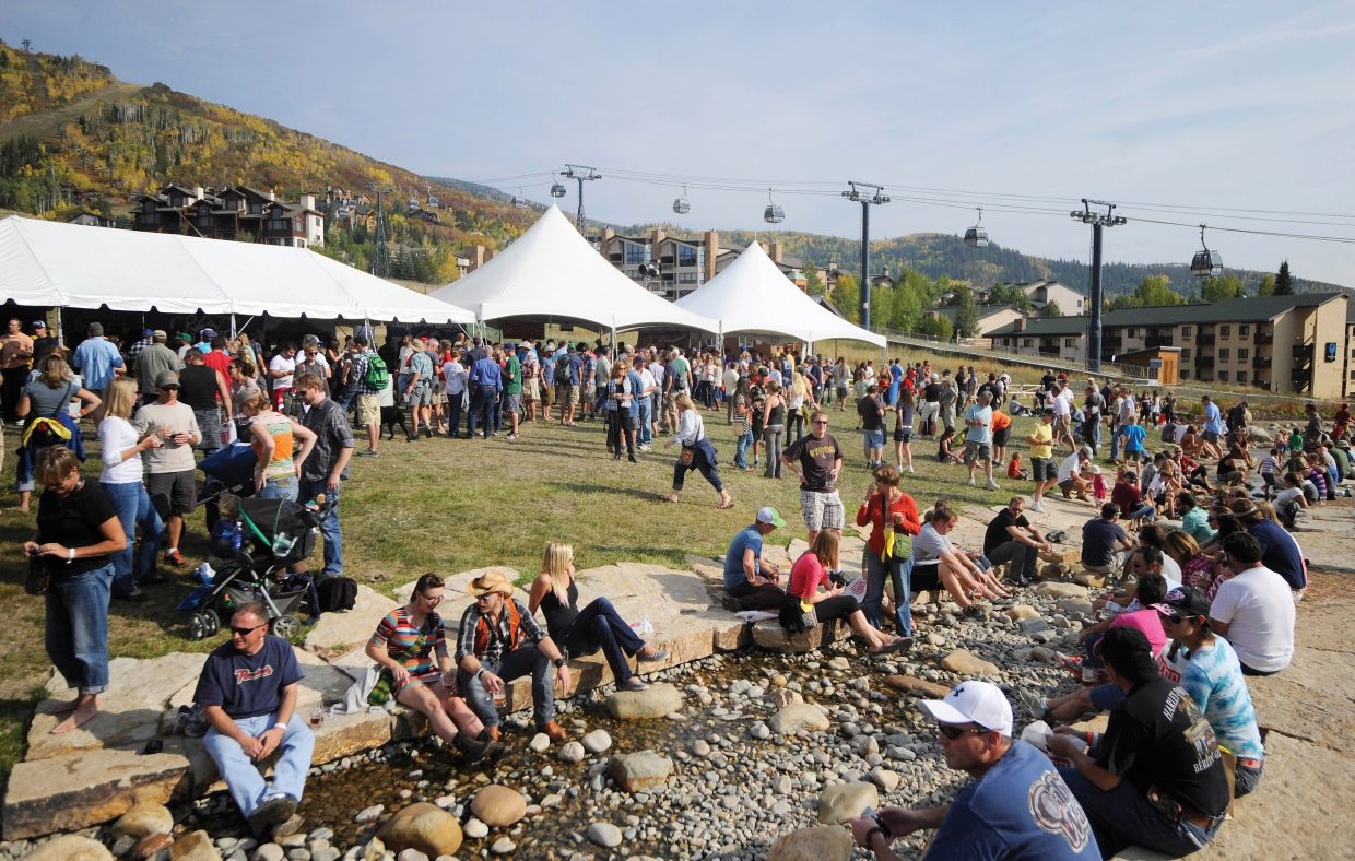 The Mountain Village Partnership has created a new festival, Savor Steamboat, as a counterpart to the annual OktoberWest, pictured here in 2012.
