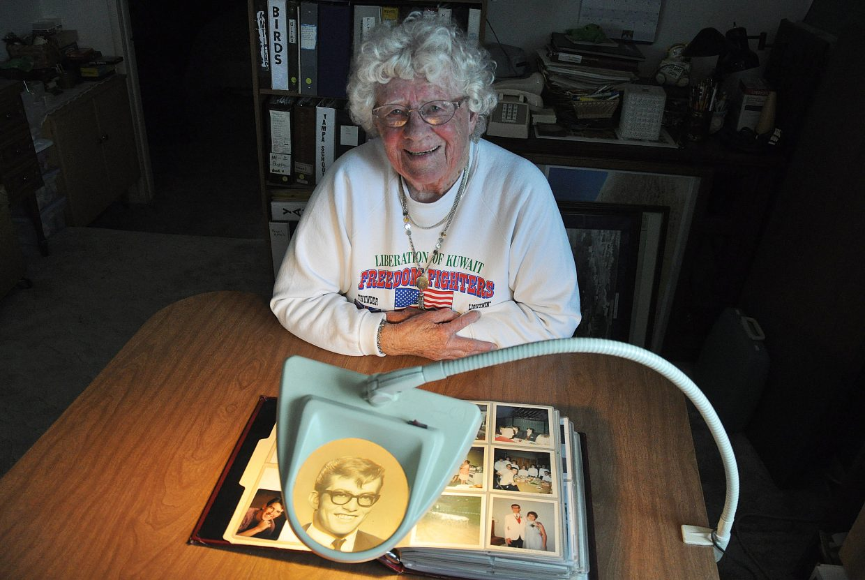 Yampa resident Hildred Fogg says on some days, it feels like her son David Fogg, pictured in the magnifying lamp, was killed yesterday. On others, it feels like it happened a long time ago. Monday's Memorial Day Service in Steamboat Springs will pay tribute to David Fogg, a Soroco High School graduate, and John Vialpando, a Steamboat Springs High School graduate. Both men were killed while fighting in Vietnam.