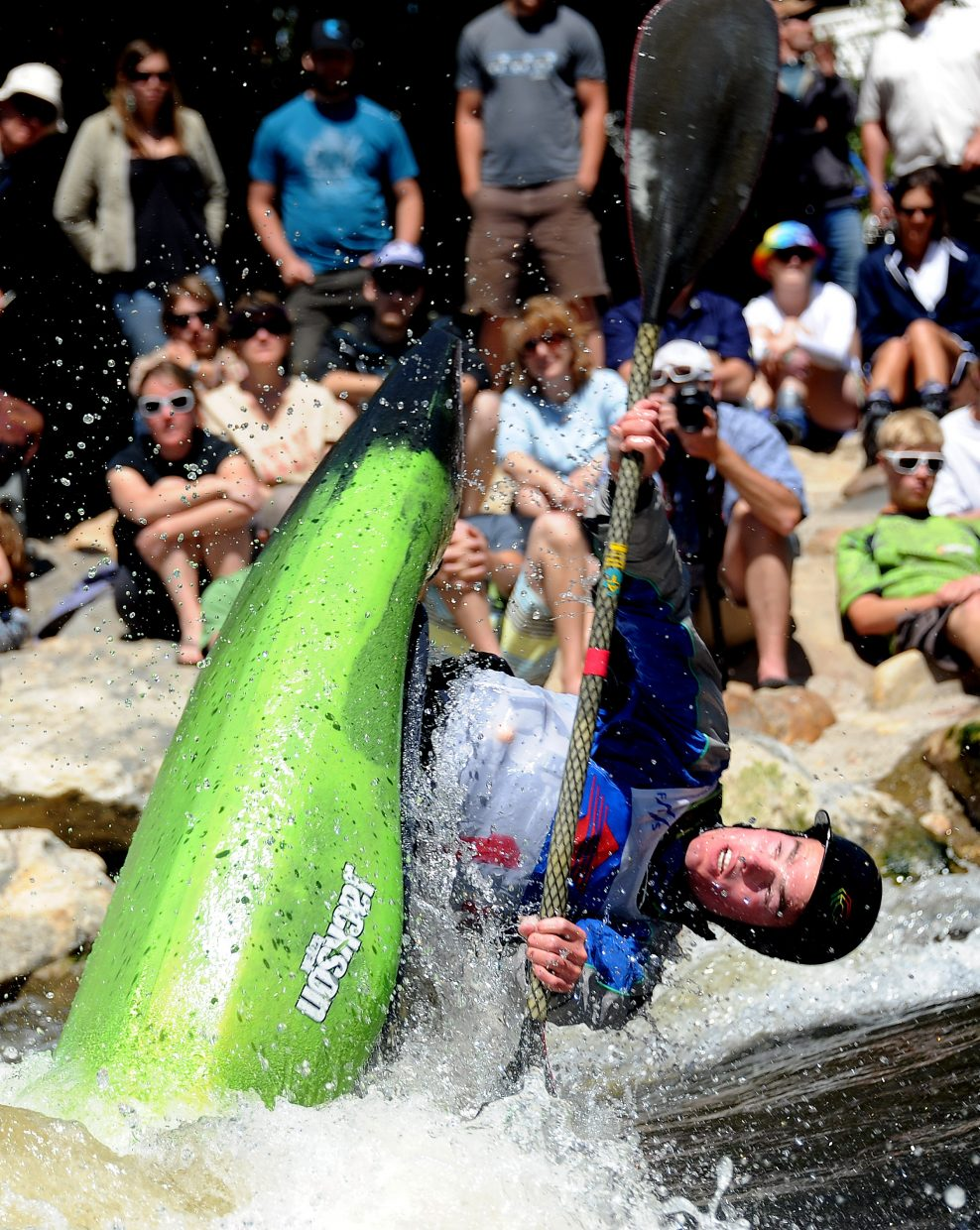 Steamboat's Luke Farny gets air Monday during the Paddling Life Pro Open in Steamboat Springs.