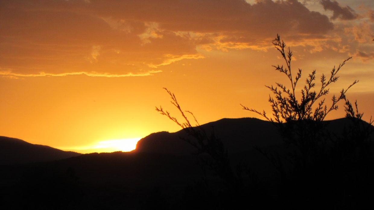 Sunset in Steamboat Springs. Submitted by: Craig P Kennedy