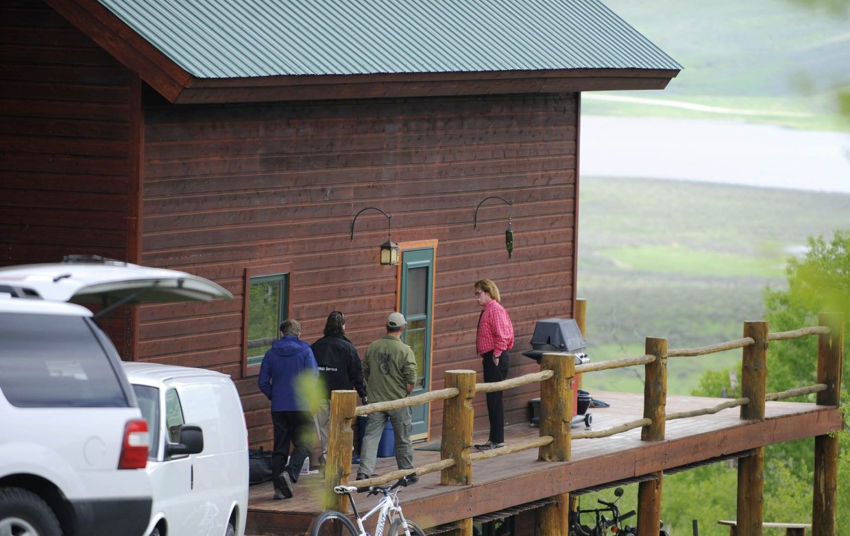 Routt County Chief Deputy District Attorney Rusty Prindle came to the residence to help with the investigation.
