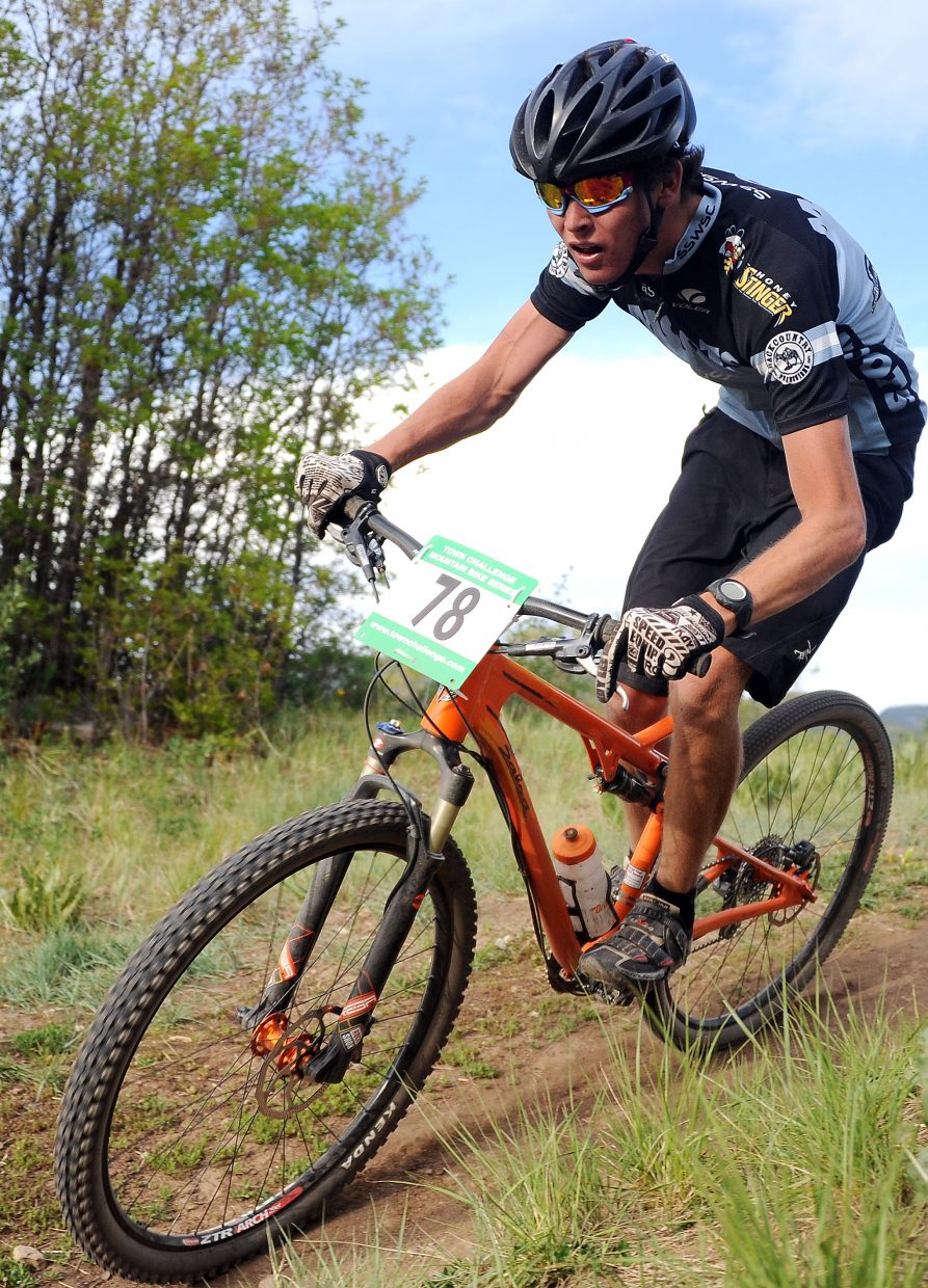 Evan Weinman rides Wednesday in a Town Challenge race at Howelsen Hill in Steamboat Springs.
