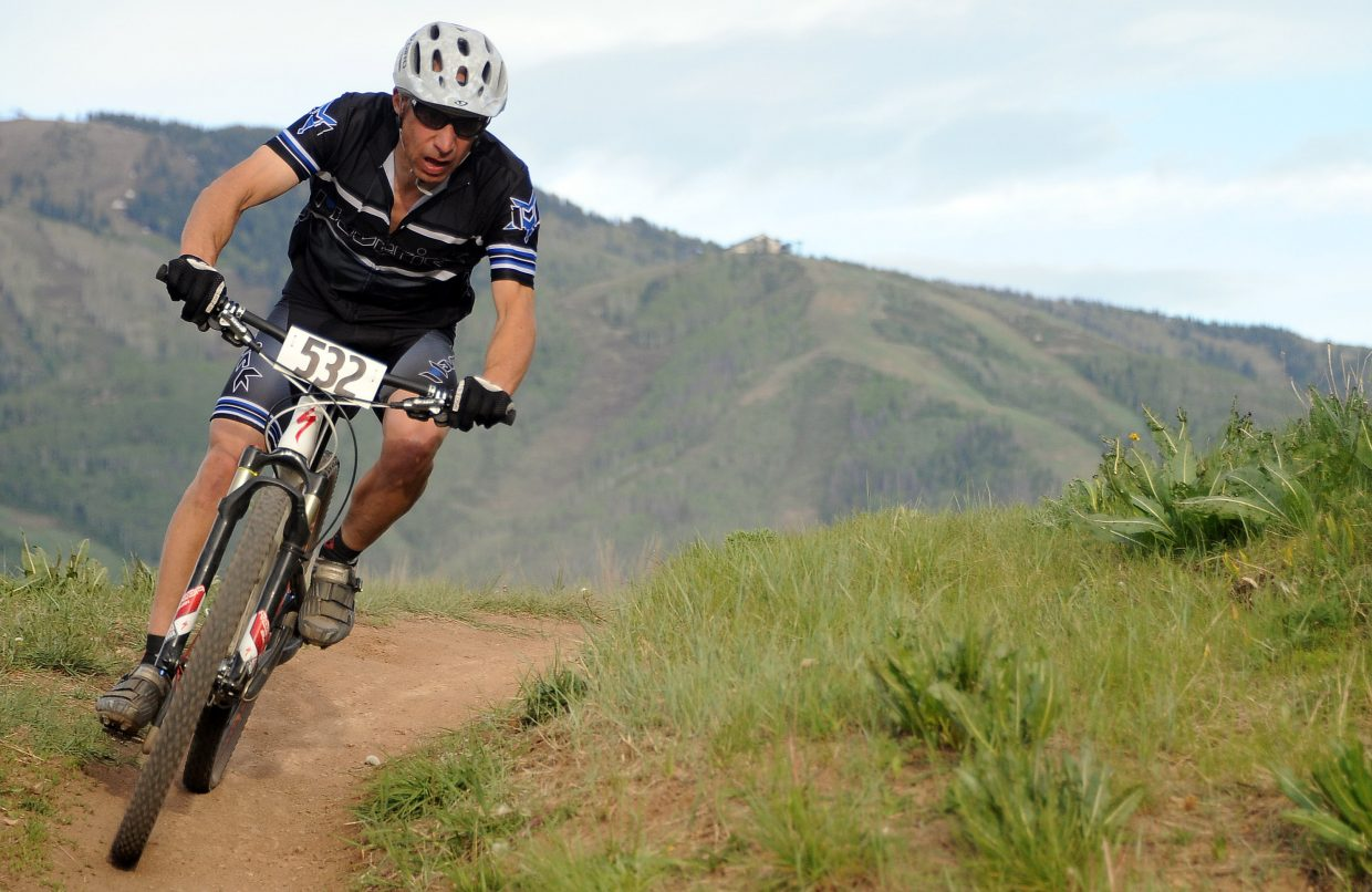 Dana Franklin rides Wednesday in a Town Challenge race at Howelsen Hill in Steamboat Springs.