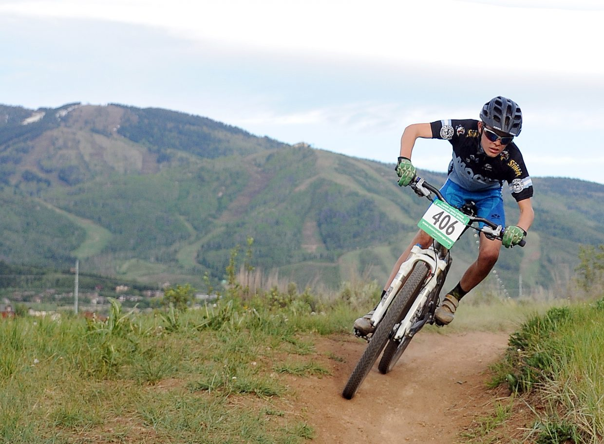 Koby Vargas rides Wednesday in a Town Challenge race at Howelsen Hill in Steamboat Springs.