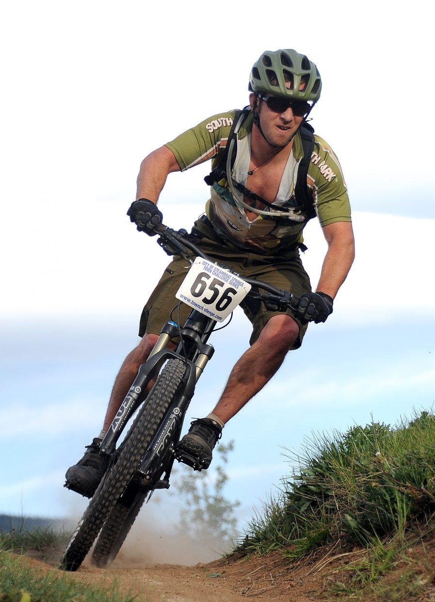 Matt Hightower rides Wednesday in a Town Challenge race at Howelsen Hill in Steamboat Springs.