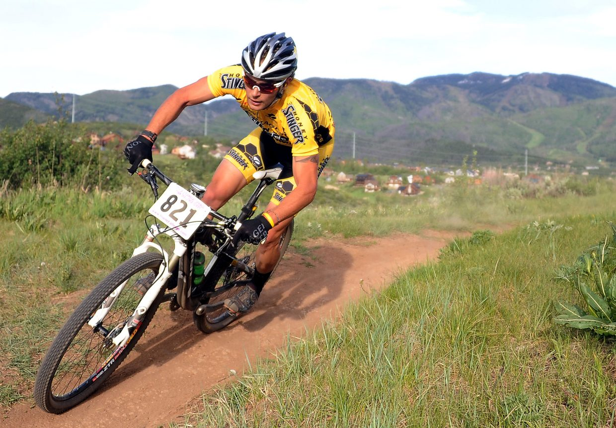 Trevor Walz rides Wednesday in a Town Challenge race at Howelsen Hill in Steamboat Springs.