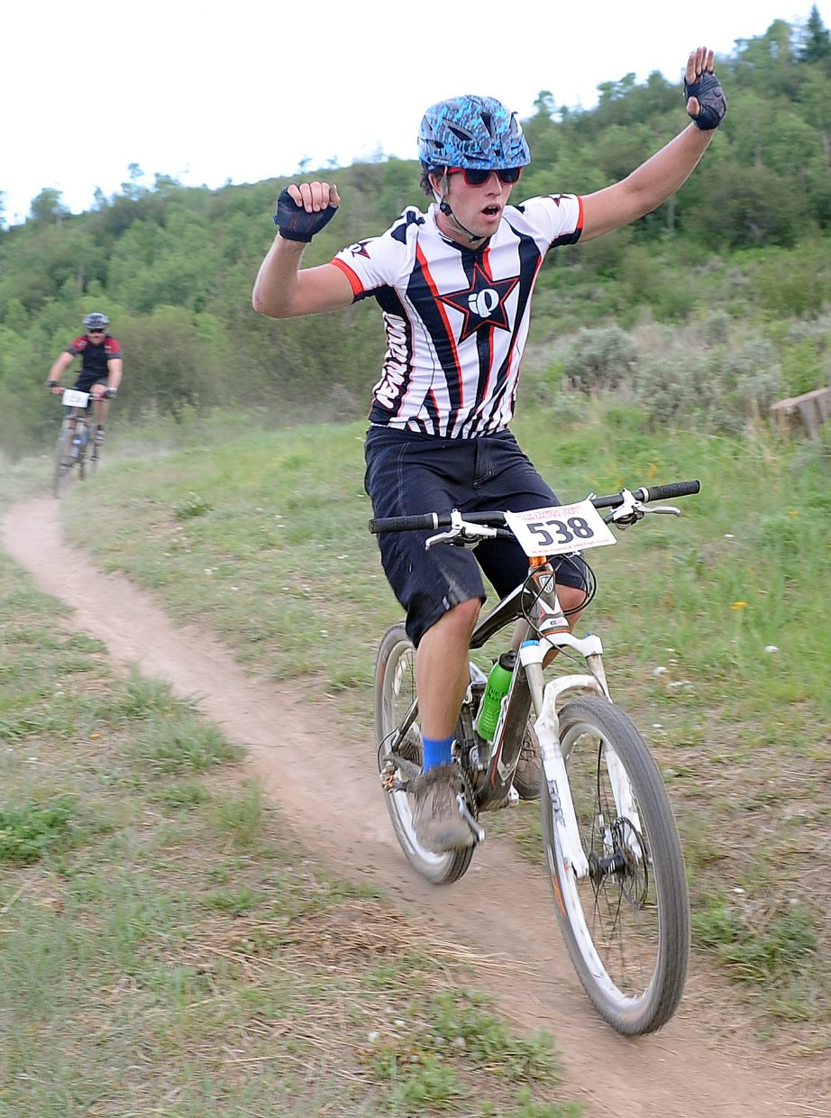 Ben Hambright rides Wednesday in a Town Challenge race at Howelsen Hill in Steamboat Springs.
