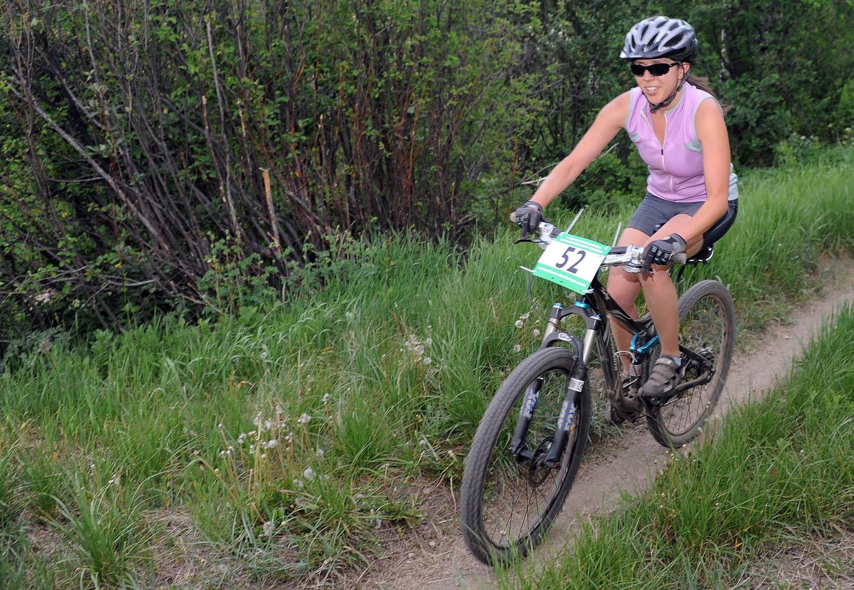 Kyleigh DeMicco rides Wednesday in a Town Challenge race at Howelsen Hill in Steamboat Springs.