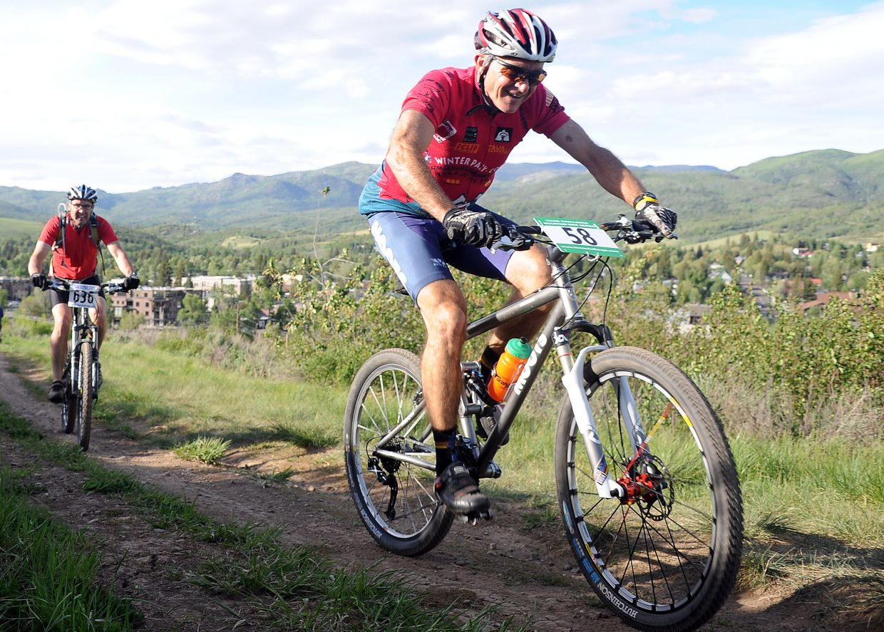 Boyd Bass rides Wednesday in a Town Challenge race at Howelsen Hill in Steamboat Springs.