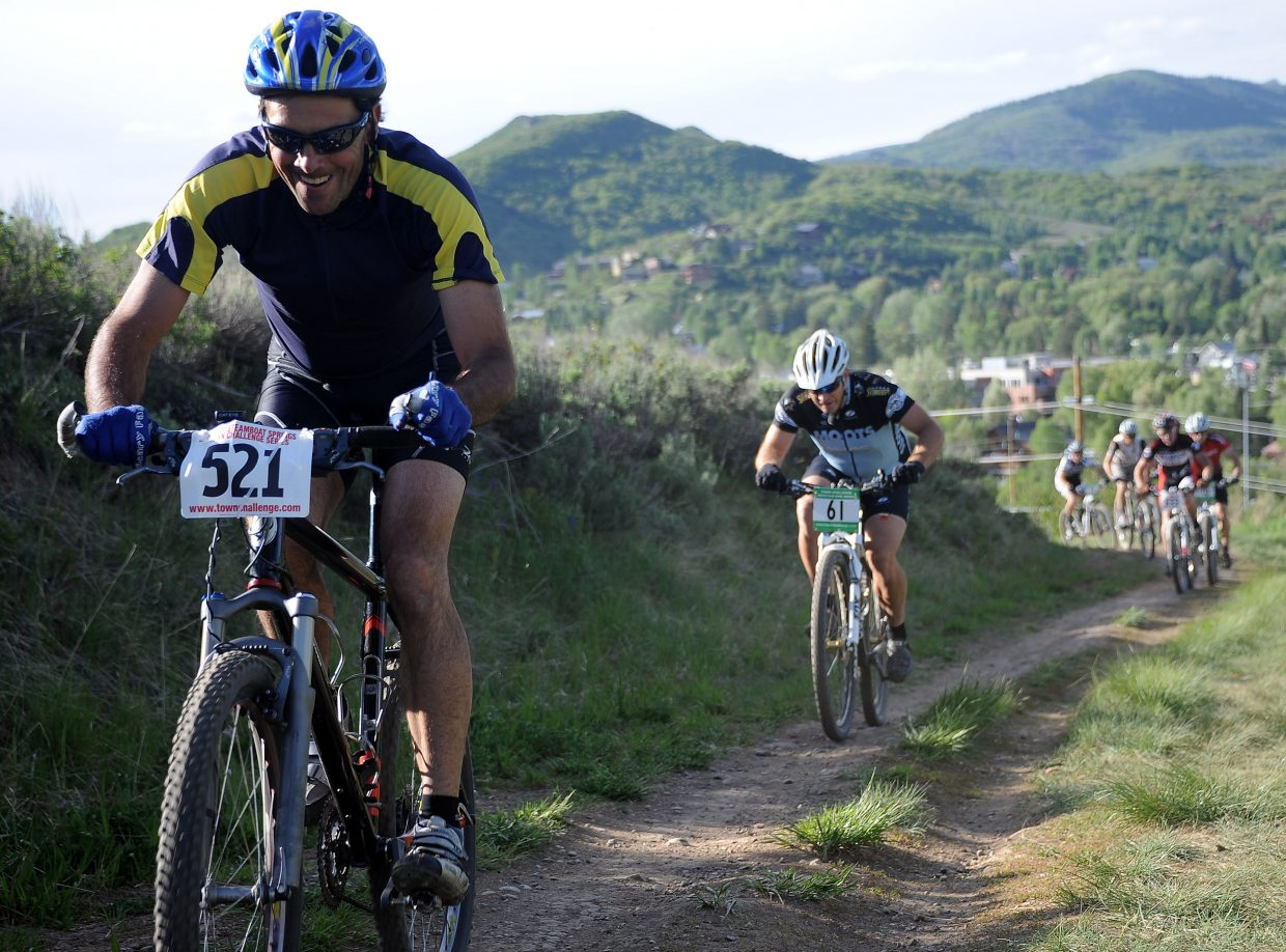 Rishi Grewal rides Wednesday in a Town Challenge race at Howelsen Hill in Steamboat Springs.