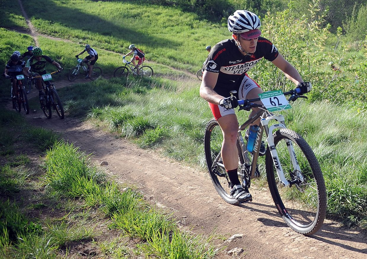 Simon Demby-Myers rides Wednesday in a Town Challenge race at Howelsen Hill in Steamboat Springs.