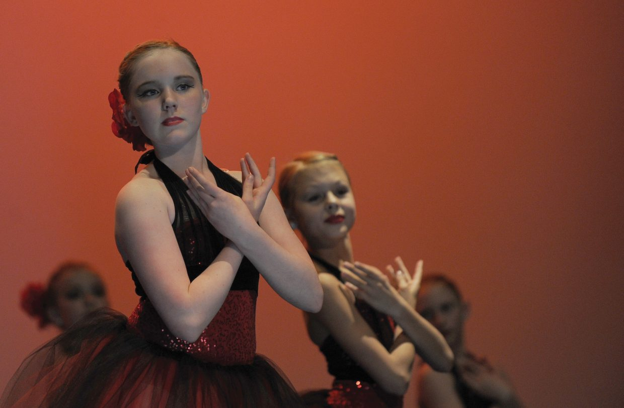 Dancer Mallory Johnson performs at a dress rehearsal for Elevation Dance Studio's annual recital, which will take place at 6 p.m. Friday and Saturday at the Steamboat Springs High School auditorium.