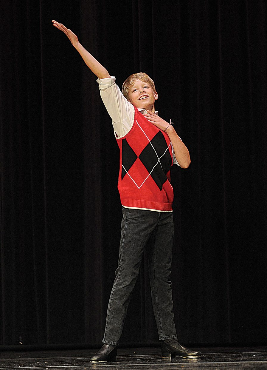 Tap dancer Marty St. Pierre performs at a dress rehearsal for the Elevation Dance Studio's annual recital, which will take place at 6 p.m. Friday and Saturday at the Steamboat Springs High School auditorium.