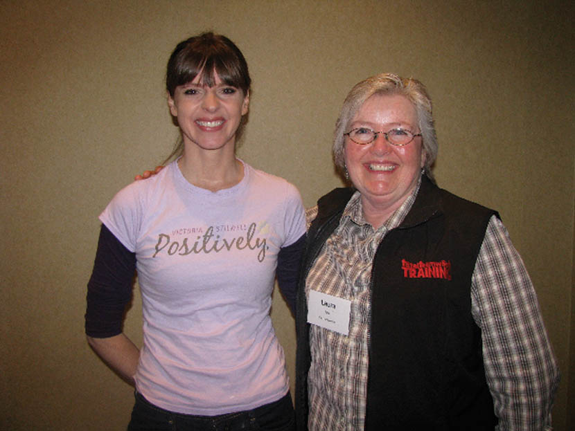 """Laura Tyler meets with Victoria Stillwell, from Animal Planet's """"It's Me or The Dog,"""" during the International Association of Animal Behavior Consultants conference. Often, TV shows do not generate the authentic long-term results of training during the one-hour episodes. A behavior consultant or professional trainer can help you set up a proper plan for training."""