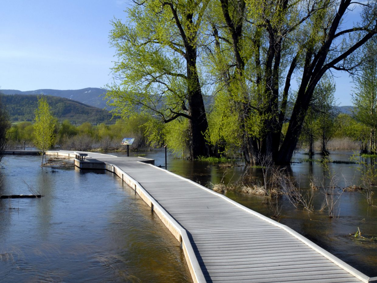 The boardwalk at Rotary Park in Steamboat Springs on June 5, 2011.