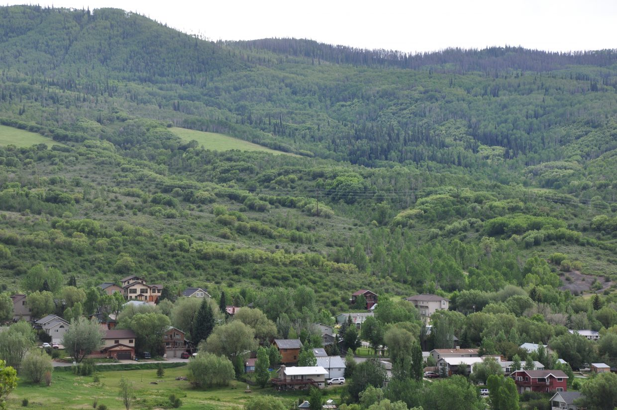 Samantha and Eric Rabesa are requesting the Steamboat Springs City Council remove a deed restriction that stops them from selling the house in the Fairview neighborhood, seen above from Colorado Mountain College's Alpine Campus, apart from its back lot.