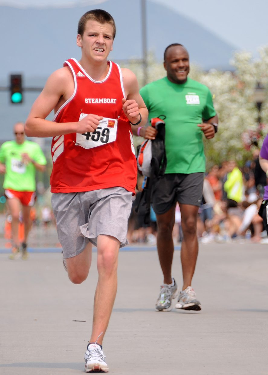 Steamboat's Jack Burger graduated high school Saturday, then crushed the marathon Sunday, finishing 18th.