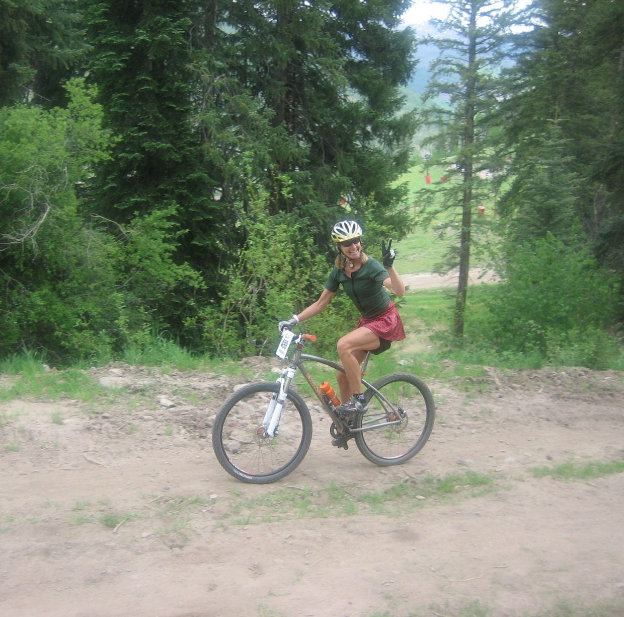 Steamboat Springs rider Karen Tremaine prepares to tackle the 2012 Teva Mountain Games in Vail. Tremaine, in her first time in the event, won the women's singlespeed division.