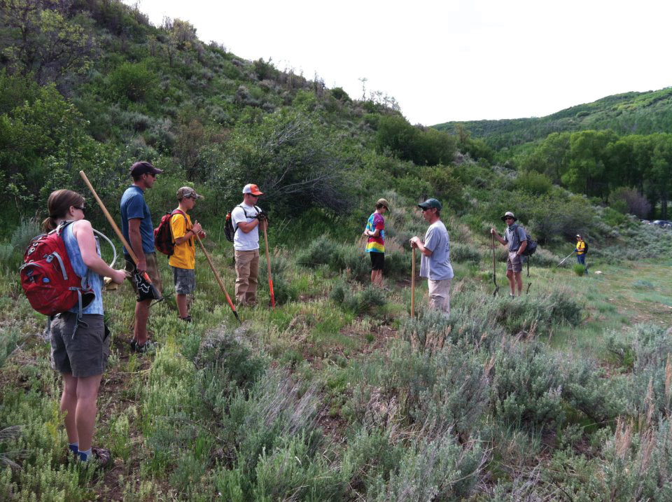 Volunteers work on Rotary Trail during last weekend's Routt County Riders trail workday. The next workday is Saturday at Steamboat Ski Area.