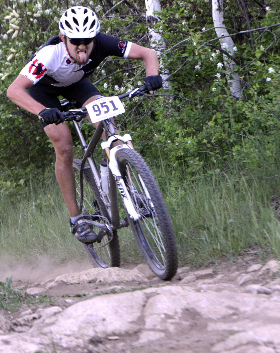 Greg Krieger rides Wednesday in the Town Challenge race at Emerald Mountain.
