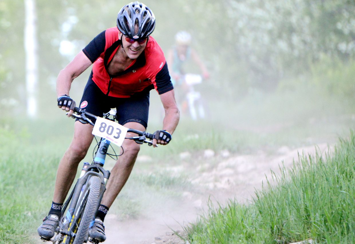 Brian Heselbach rides Wednesday in the Town Challenge race at Emerald Mountain.
