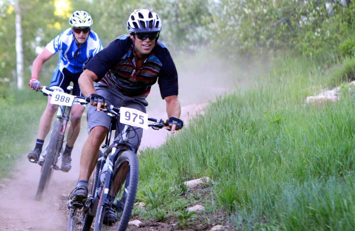 Nelson Carmichael leads the way Wednesday during a Town Challenge race in Steamboat Springs.