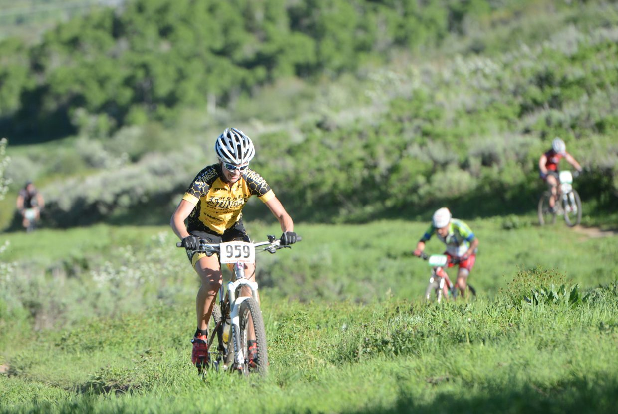 Hannah Williams rides Wednesday in the Town Challenge race at Emerald Mountain.