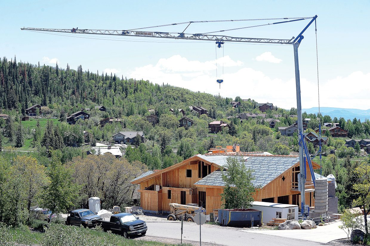 Average single-family home prices in Routt County were up 22.5 percent through March, according to a study of six mountain communities by Land Title Guarantee Co.