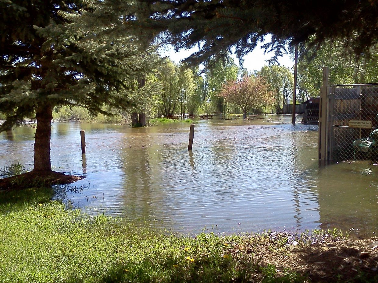 Flooding at Steamboat Campground.