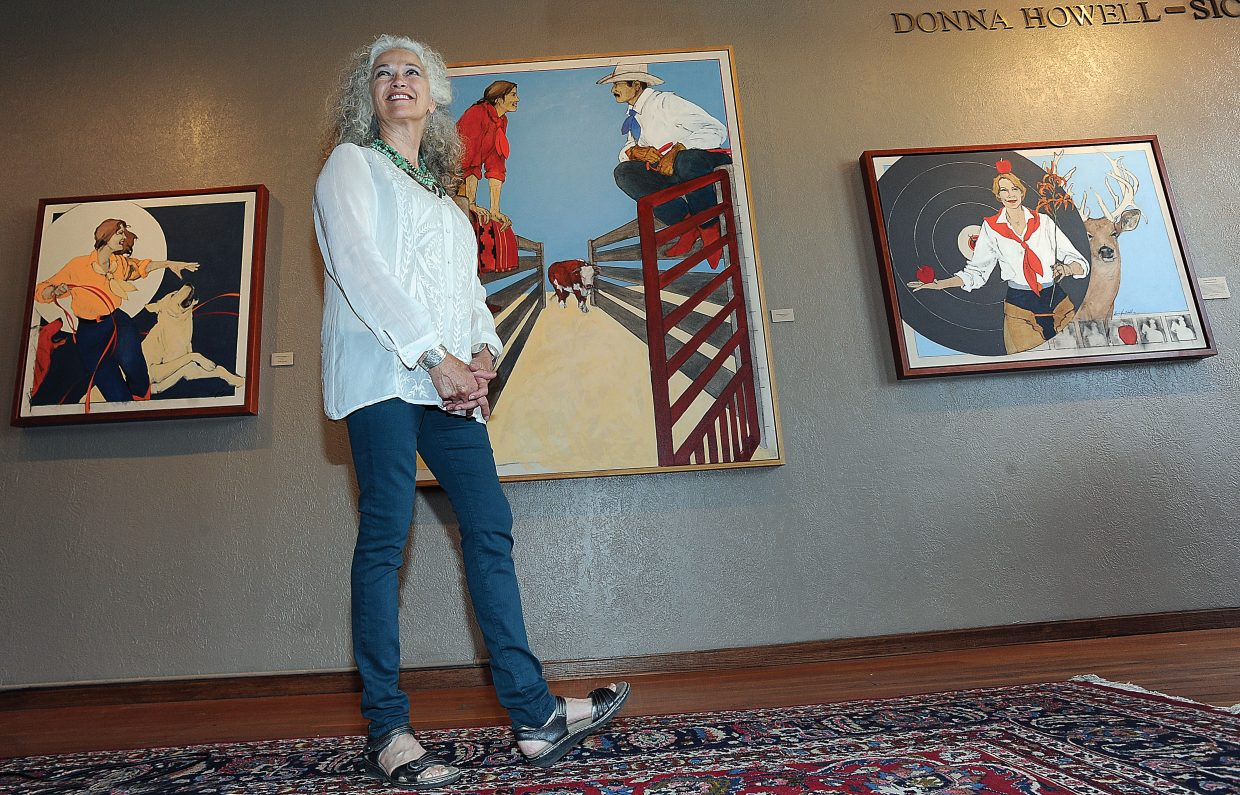 Artist Donna Howell-Sickles, who specializes in creating striking images of cowgirls set in the American West, will be featured at the Steamboat Art Museum this summer.