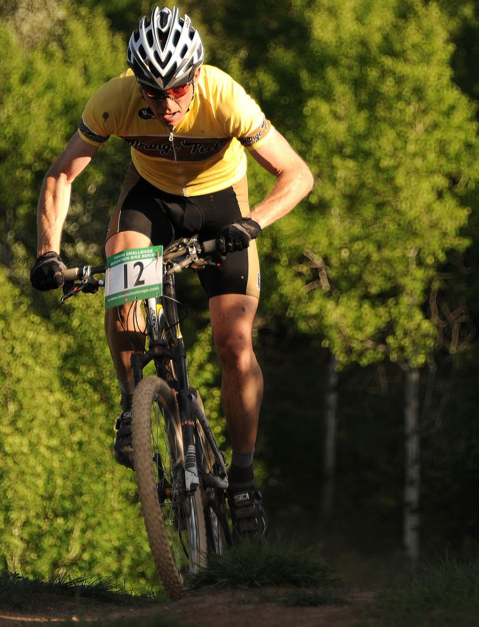 Barkley Robinson rides Wednesday in a Town Challenge Mountain Bike race in Steamboat Springs.