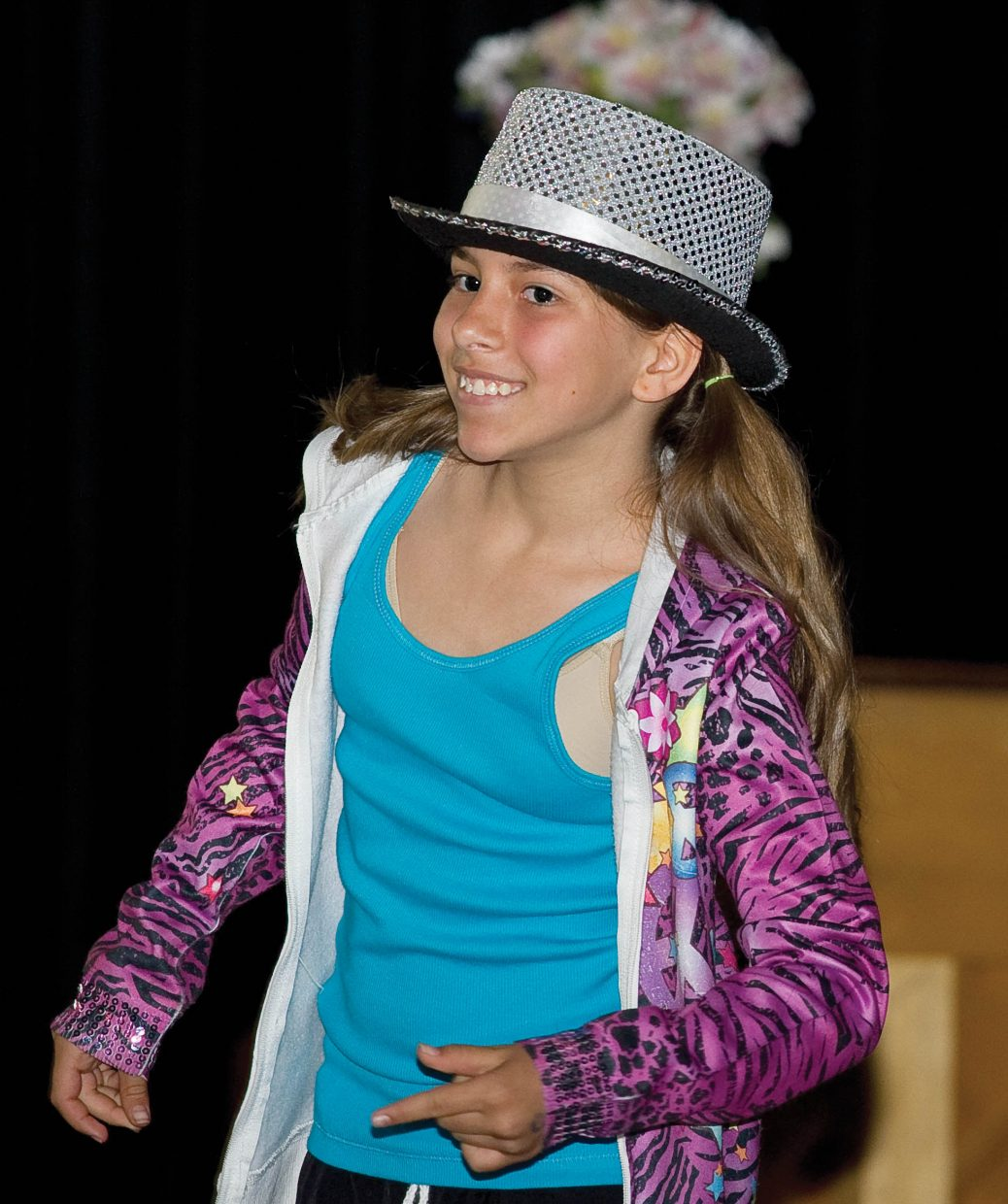 Soda Creek Elementary School fifth-grader Kailee Davis performs on the final day of school Thursday during the End of the Year Talent Show.