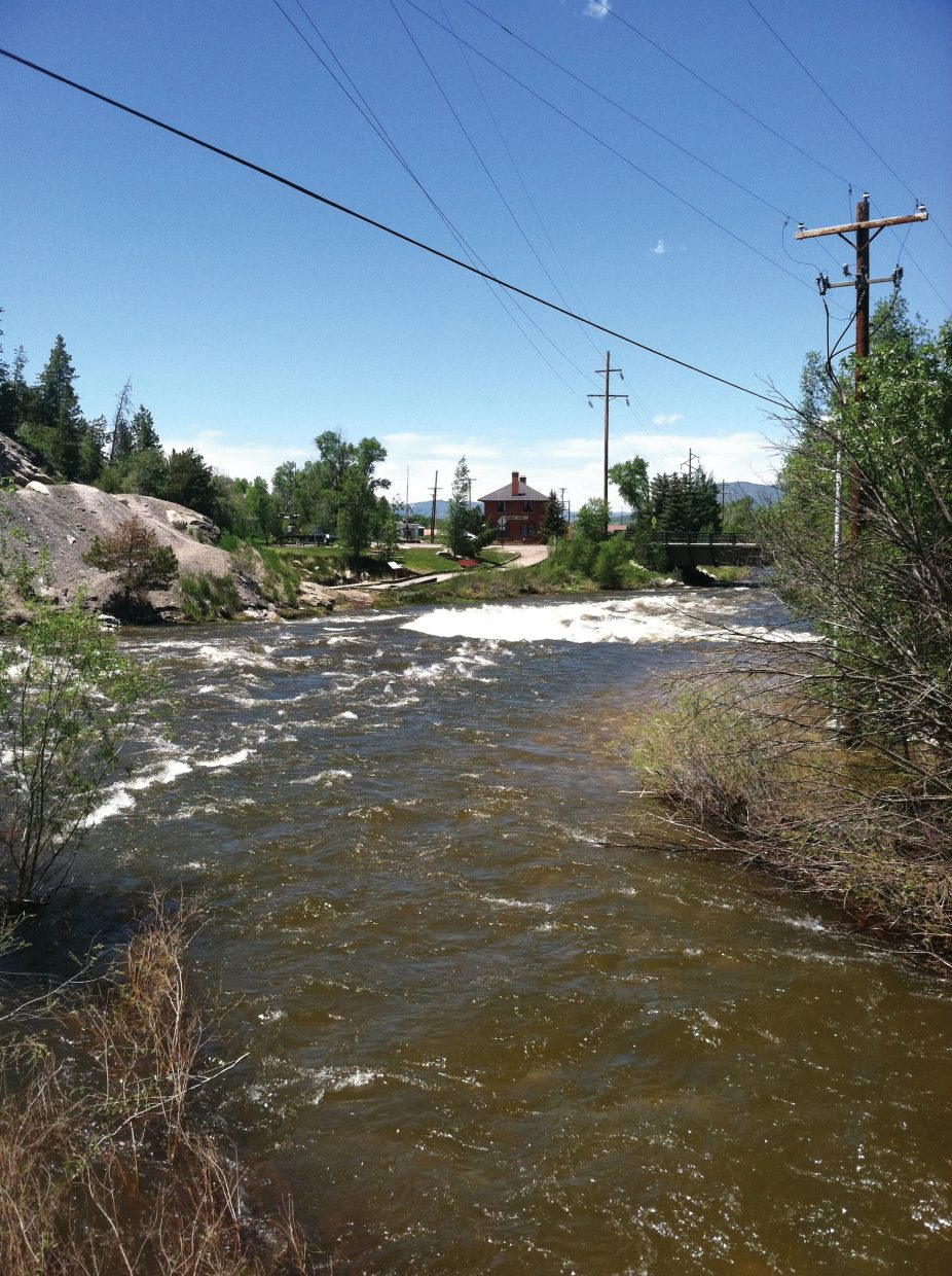 Soda Creek enters the Yampa River above Charlie's Hole in downtown Steamboat on Sunday, June 12.